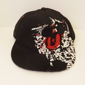 Angry Mickey Mouse Black Cap